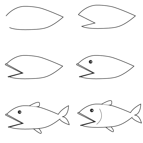 Dessin poisson - Dessin poisson facile ...