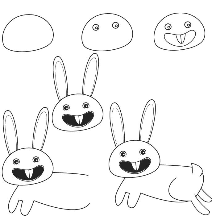 Dessin lapin - Un lapin dessin ...