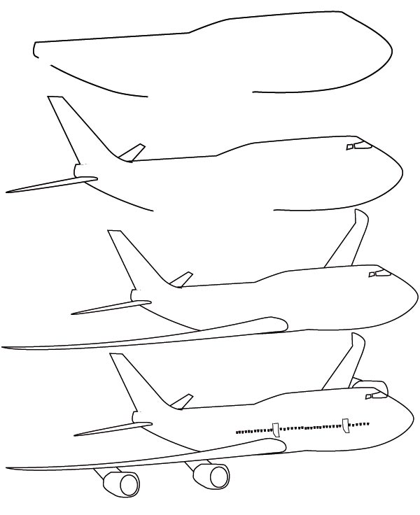 Dessin avion - Avion a dessiner ...