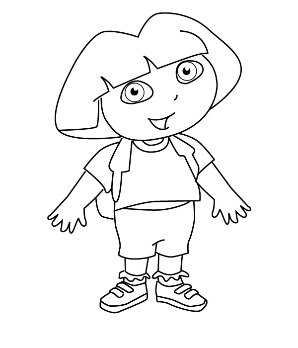 Dora And Bujji Colouring Pages