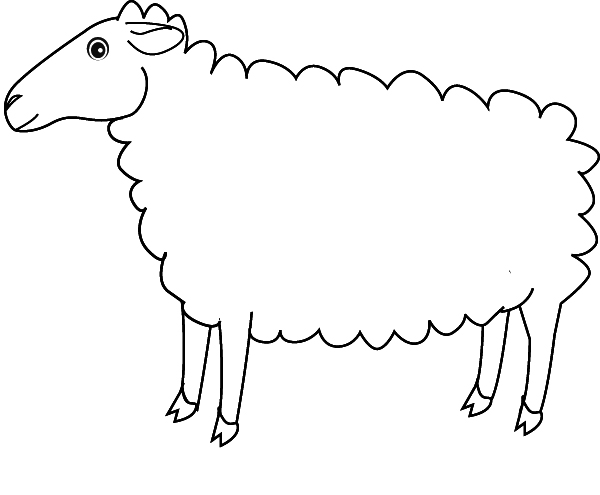 Coloriage Ferme Mouton.Coloriage Mouton