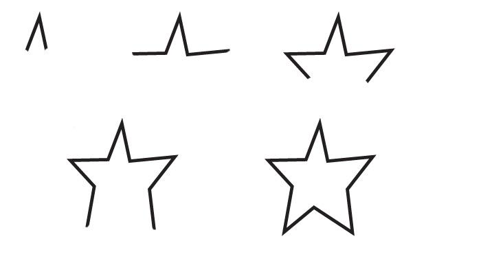 Dessin toile - Comment dessiner une star ...
