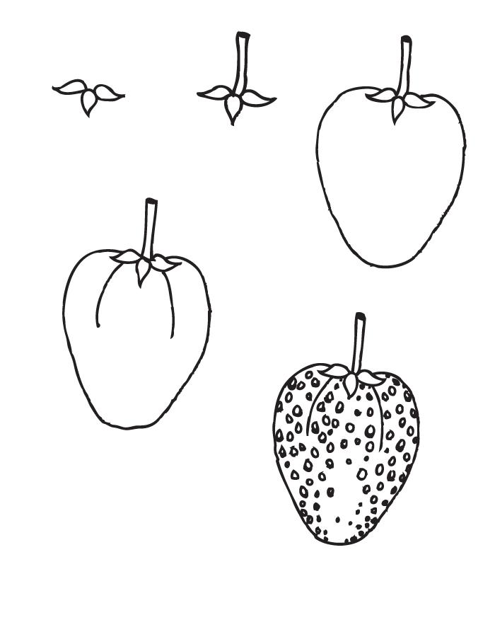 dessin fraise