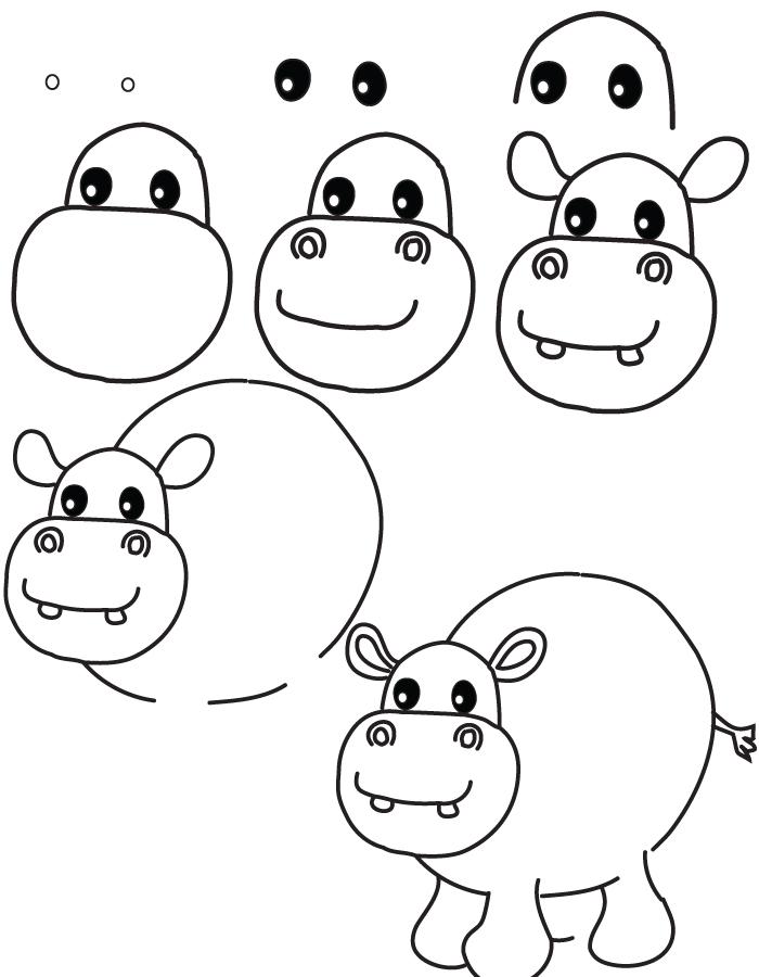 Apprendre à dessiner un hippopotame en quelques étapes simples