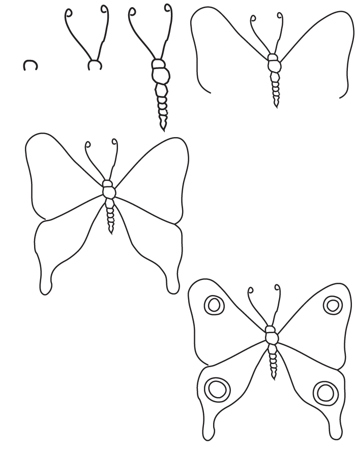 Dessin papillon - Dessiner un papillon ...