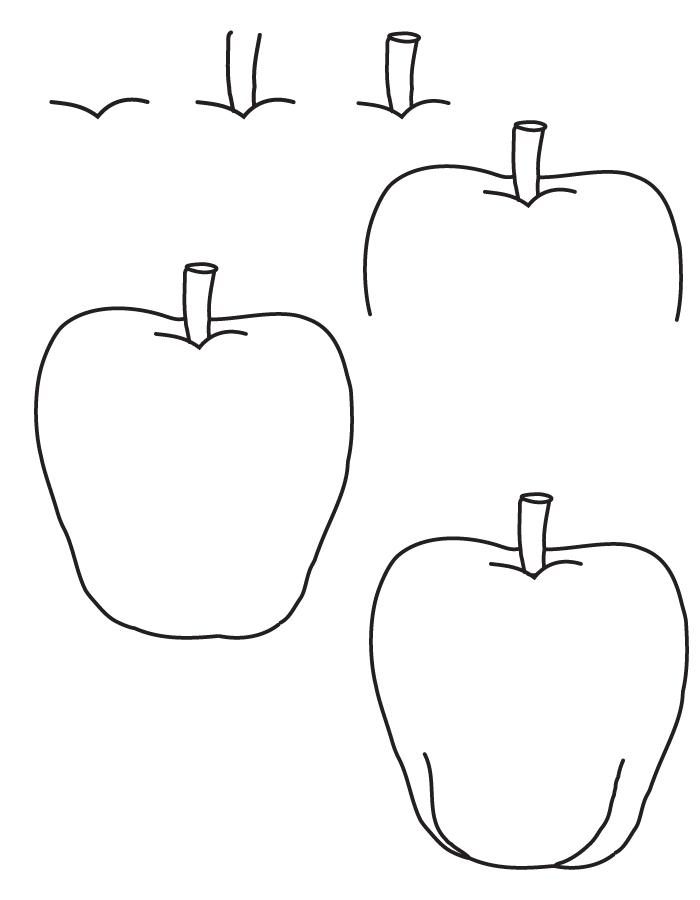Dessin pomme - Dessin pomme apple ...