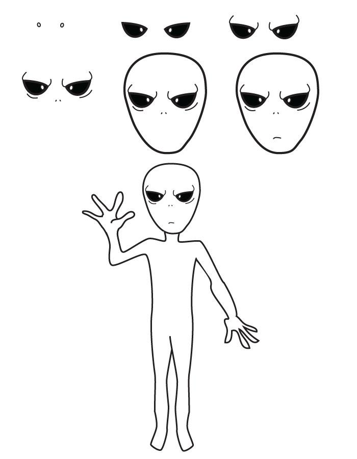 dessin extra-terrestre