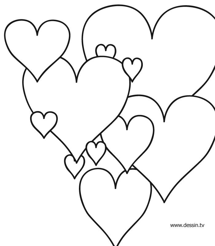 Coloriage de de coeur - Coeur coloriage ...