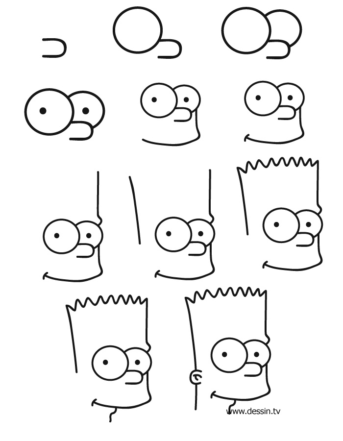 photo apprendre a dessiner bart simpson