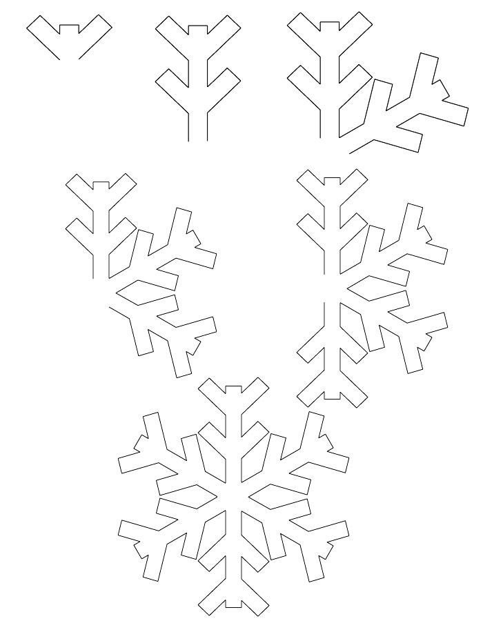 Dessin flocon de neige - Dessin flocon de neige facile ...