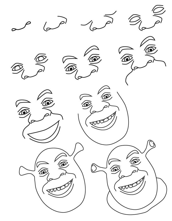 Dessin shrek - Apprendre a dessiner mickey ...