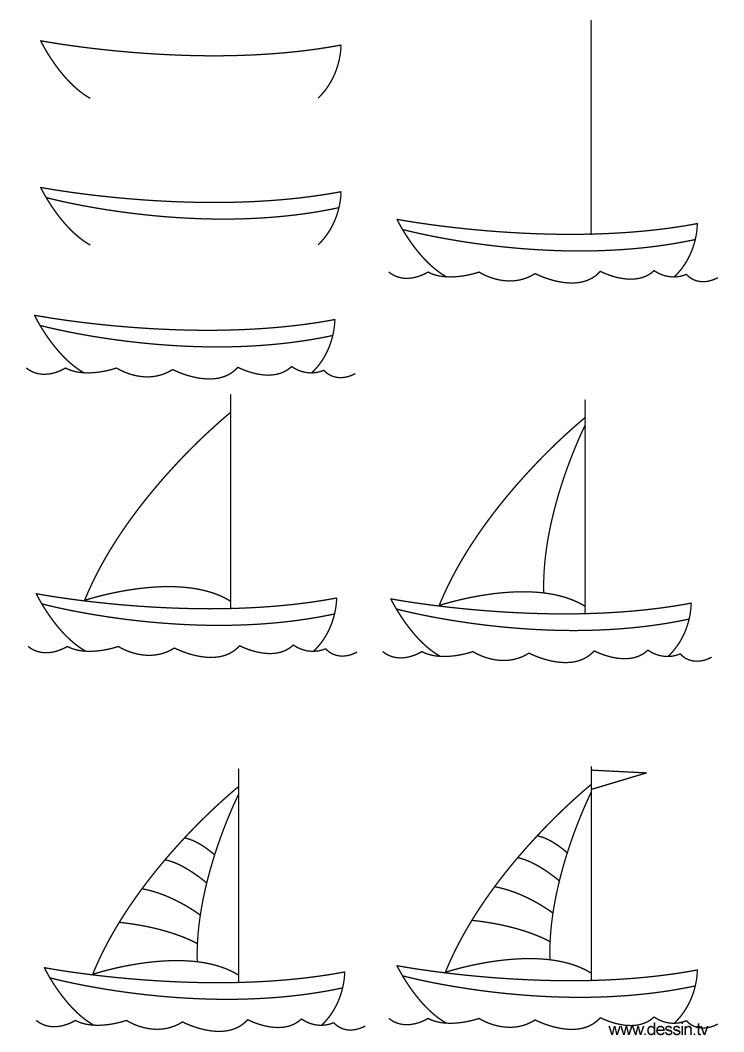 Dessin bateau - Bateau a dessiner ...