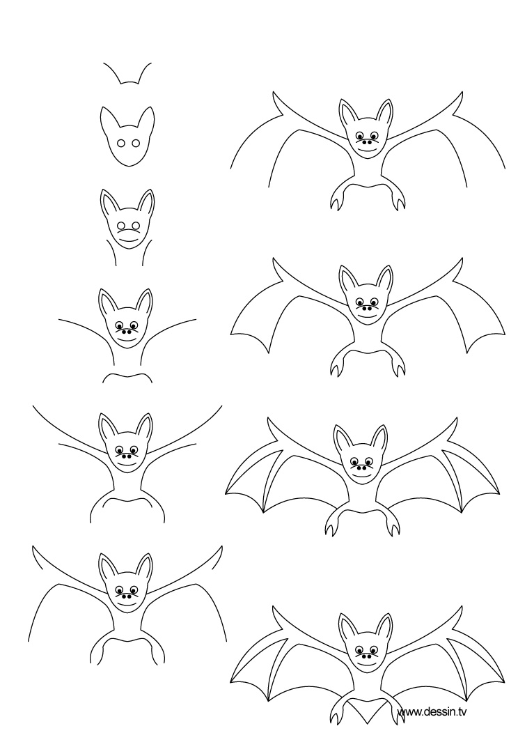 dessin chauve souris. Black Bedroom Furniture Sets. Home Design Ideas
