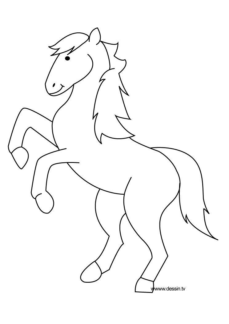 Coloriage poney - Coloriage poney ...