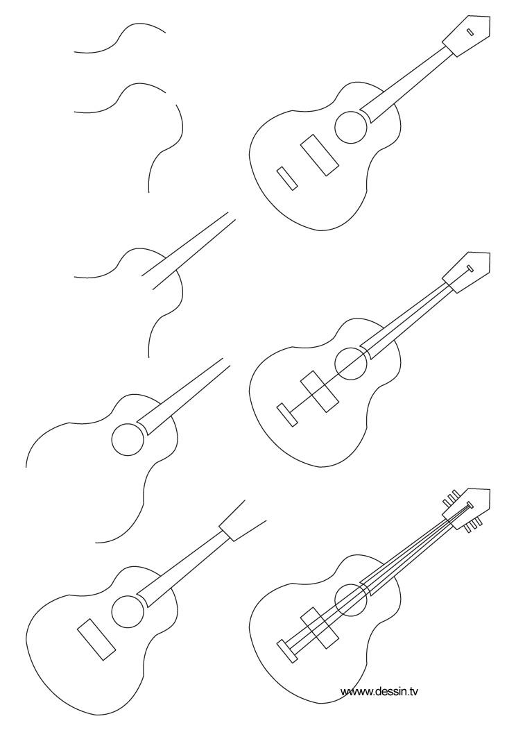 dessin guitare