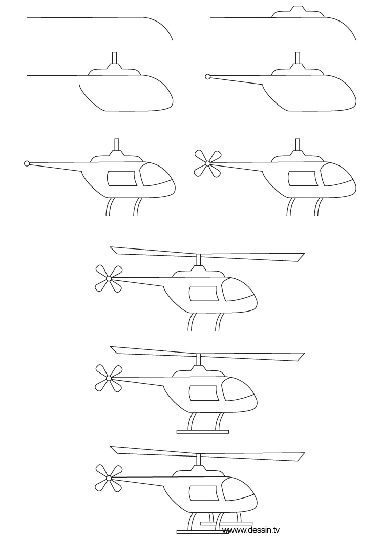 dessin helicoptere