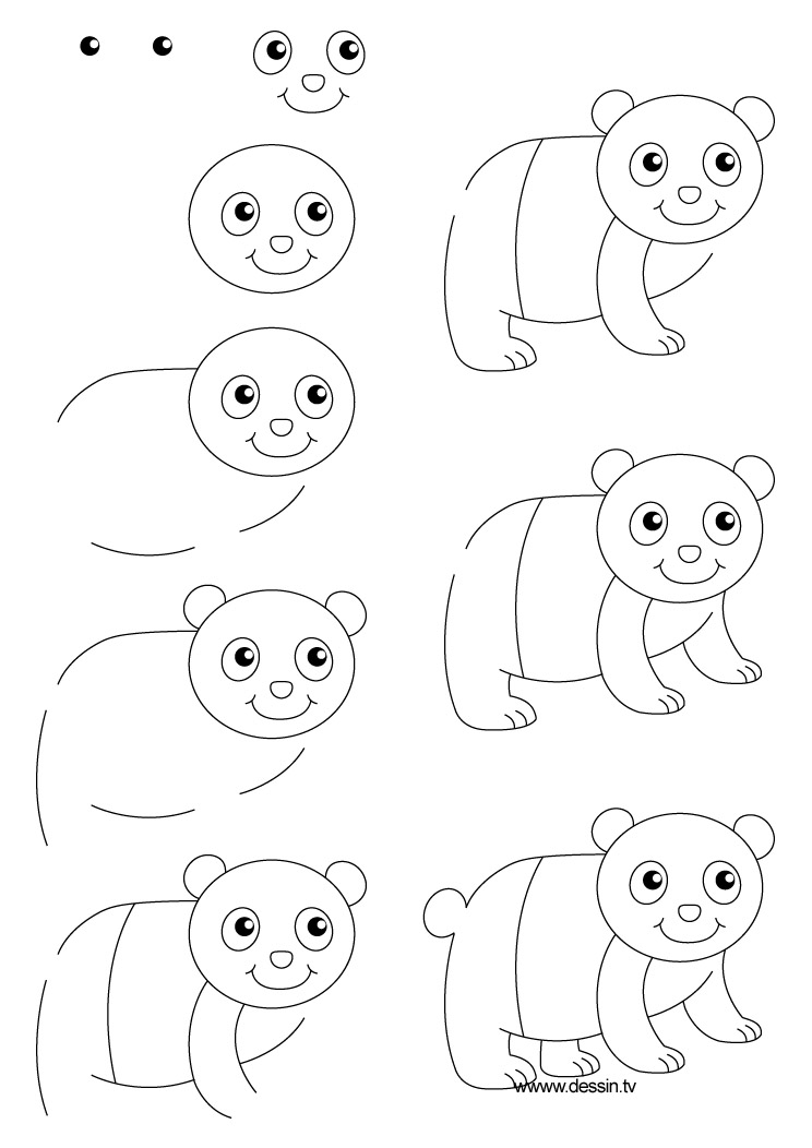 dessin panda