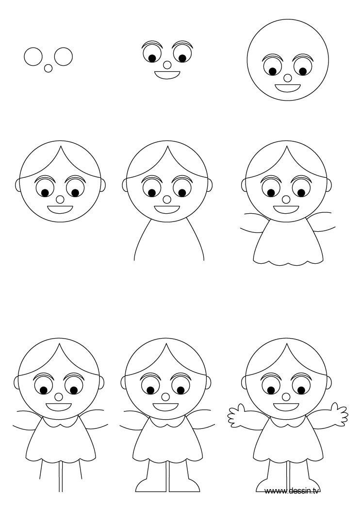 dessin poupee