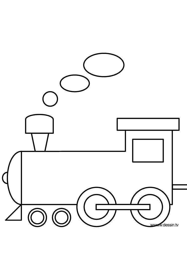 Coloriage locomotive - Locomotive dessin ...