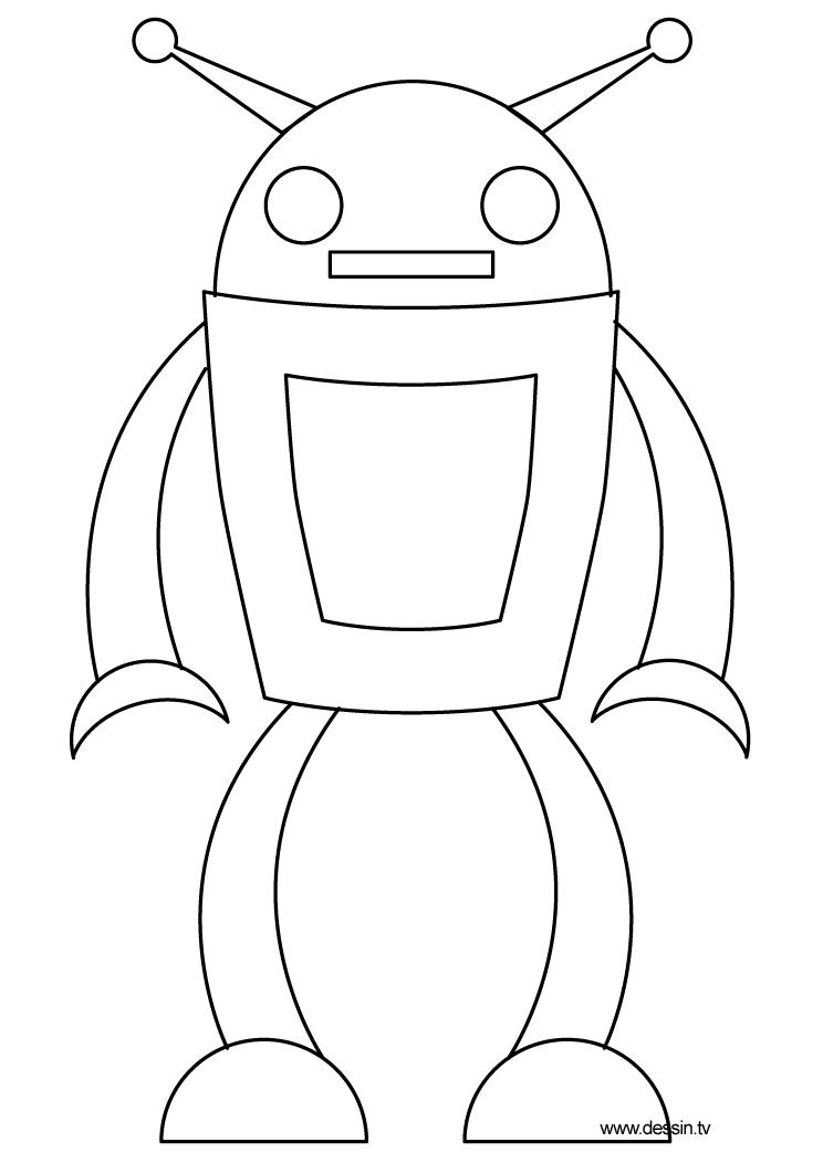 coloriage robot