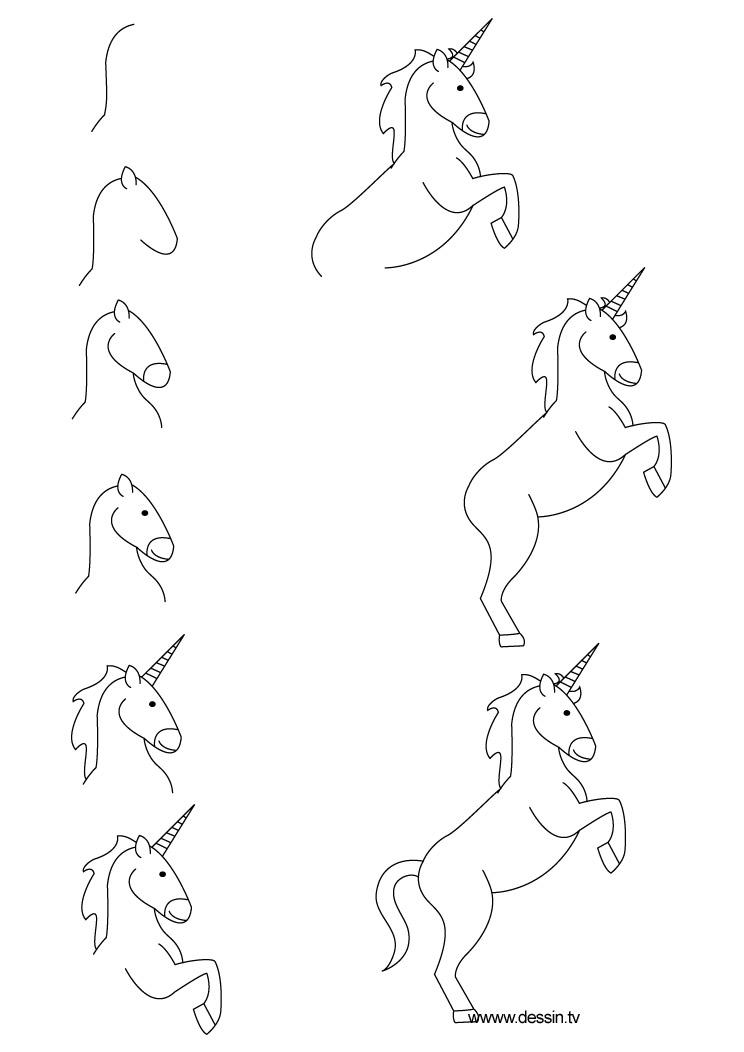 Apprendre à dessiner une licorne en quelques étapes simples