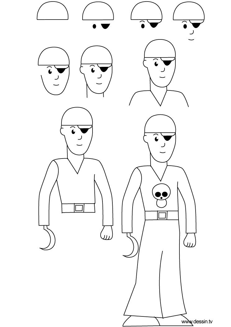 dessin pirate