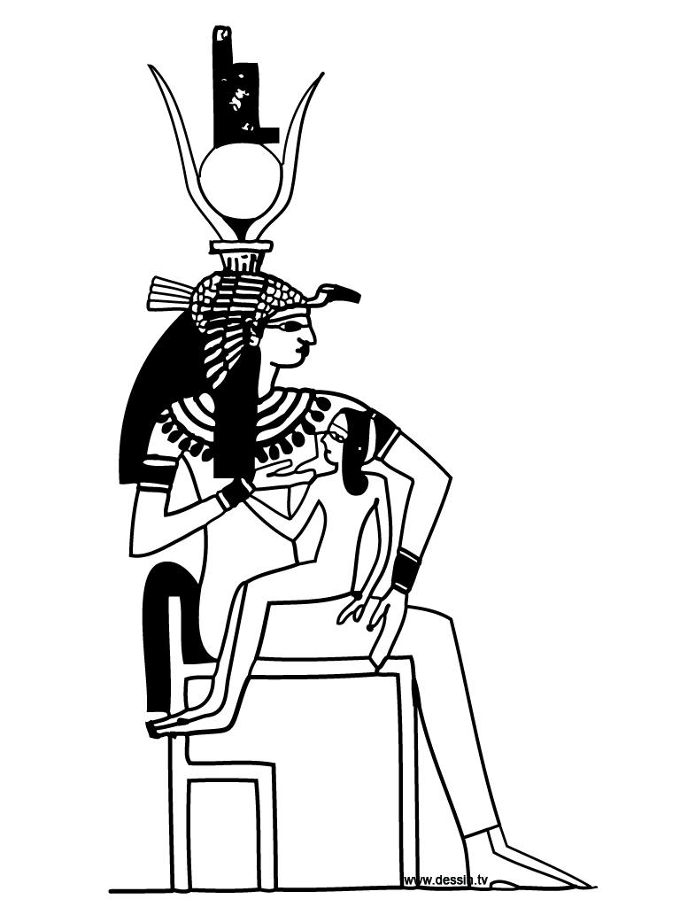 coloriage déesse-égyptienne