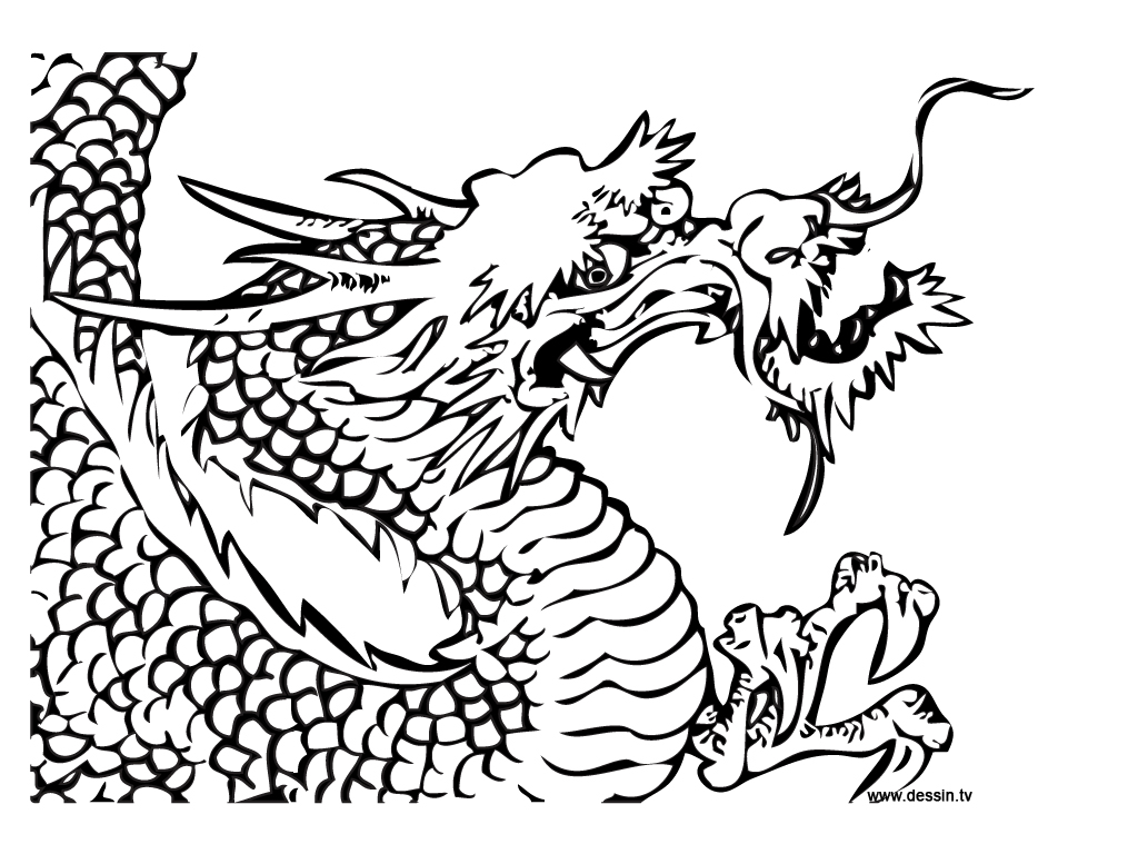 coloriage dragon-chinois