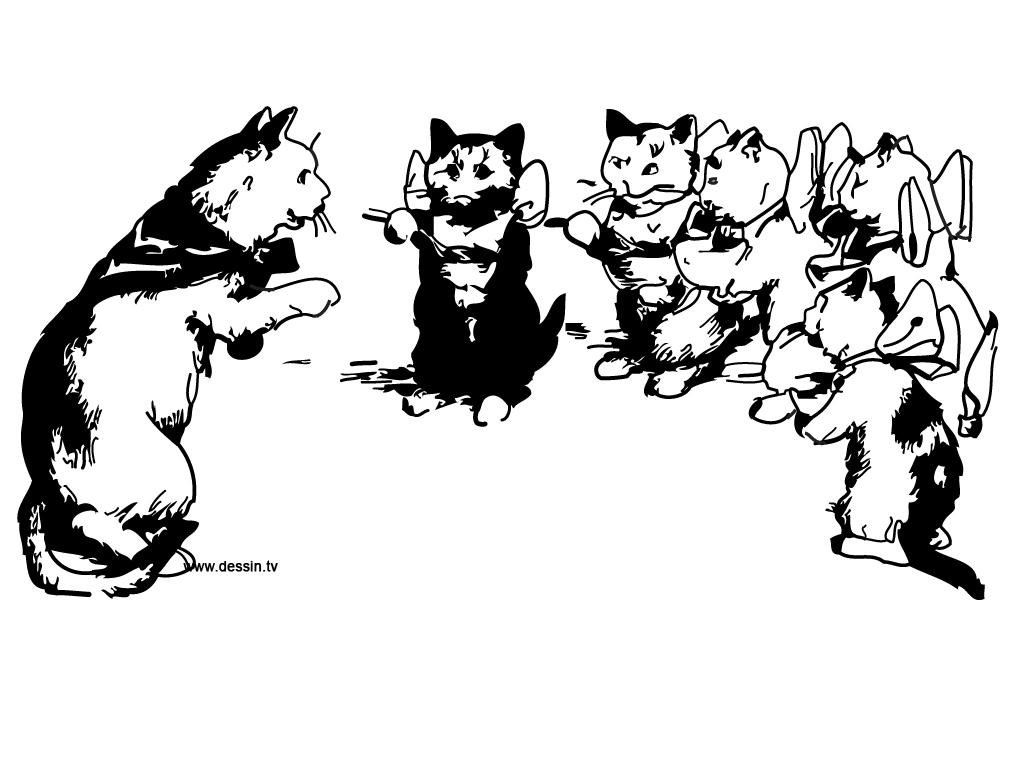 coloriage école-des-chats