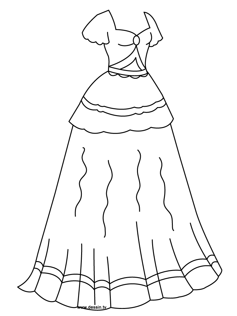 coloriage robe-de-princesse
