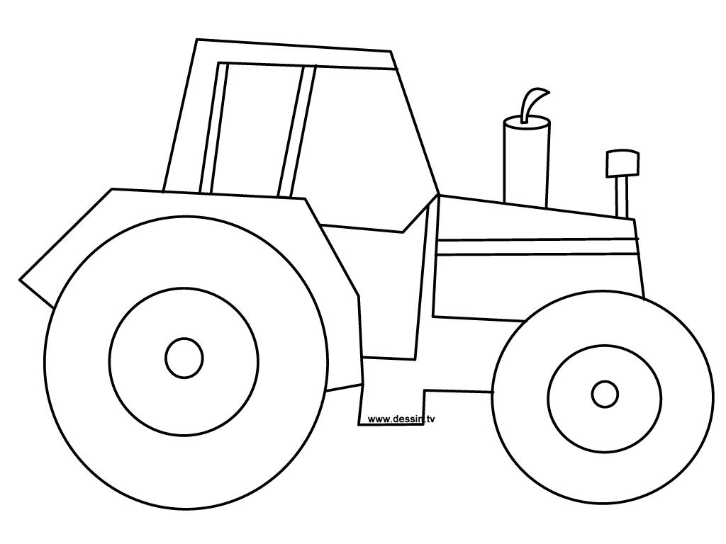 Coloriage tracteur - Dessin a imprimer de tracteur ...