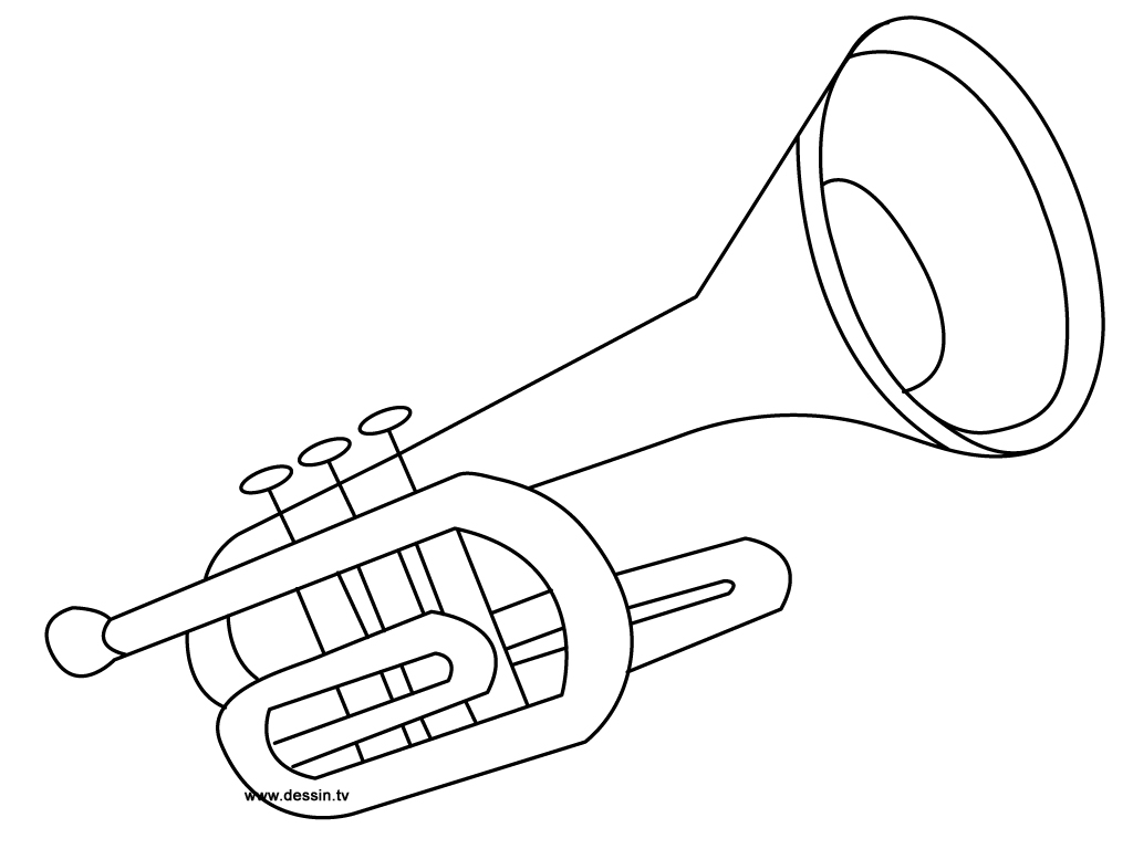 coloriage trompette