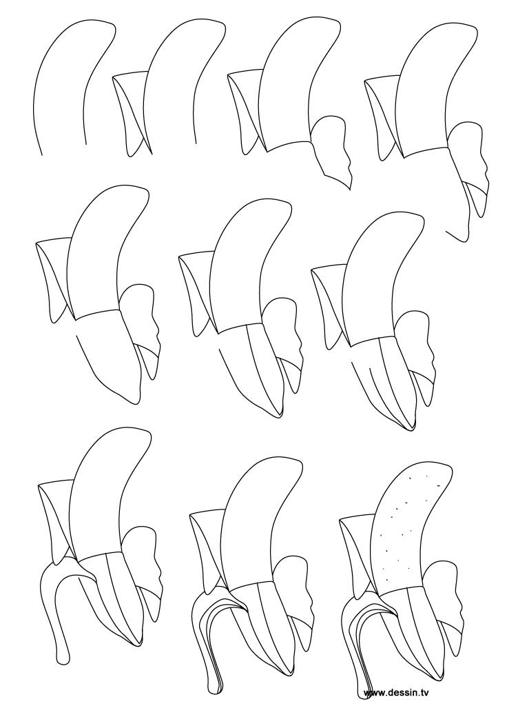 dessin banane