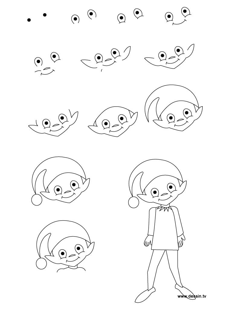 dessin elfe