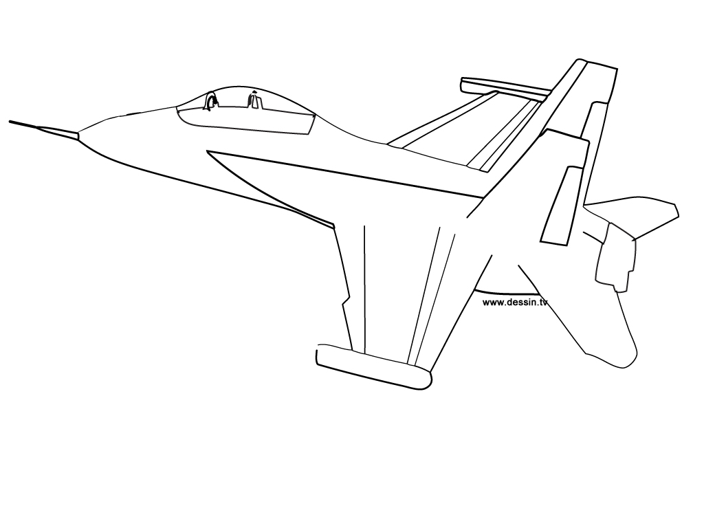 Coloriage avion f18 - Dessins avions ...