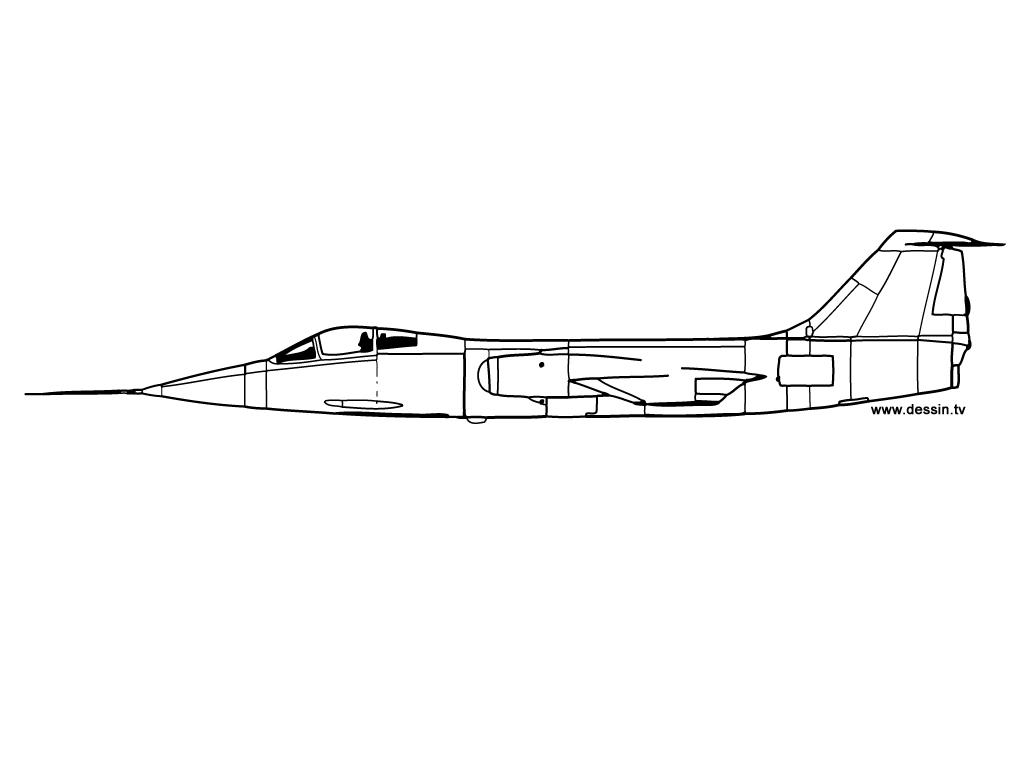 coloriage avion-de-chasse