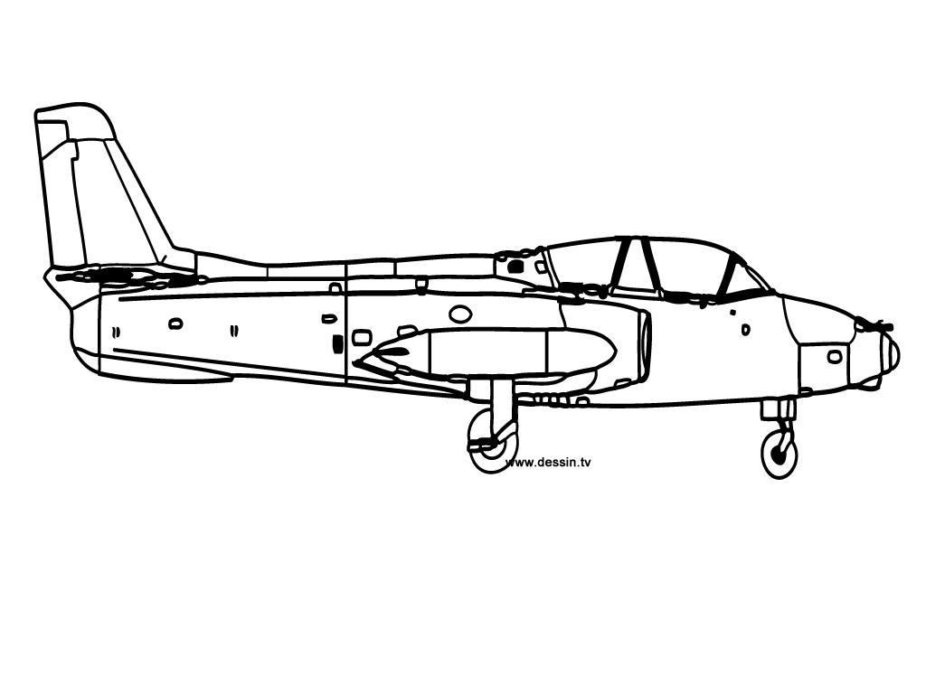 coloriage avion-vu-de-profil