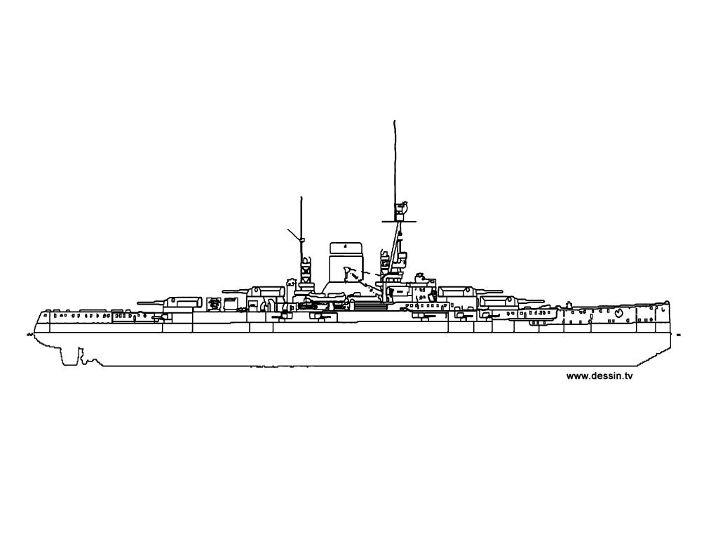 Coloriage Bateau De La Marine