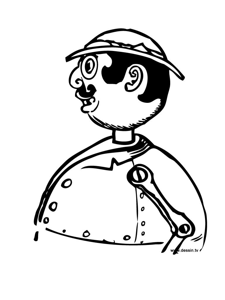 coloriage bonhomme-robot
