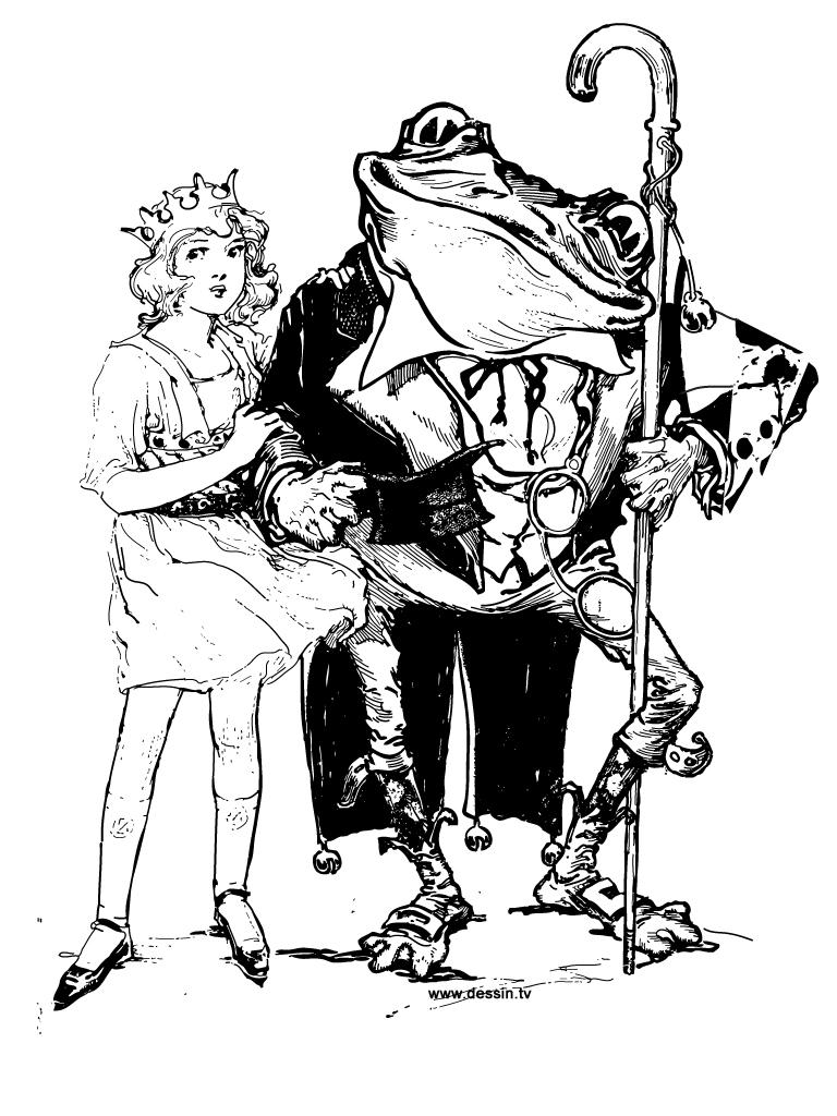 coloriage dorothé-et-monsieur-grenouille