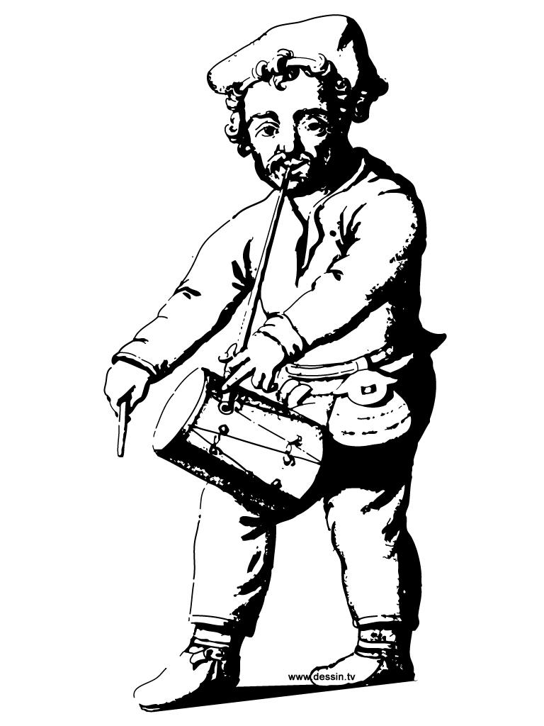 coloriage joueur-de-tambour