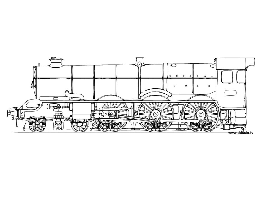 coloriage locomotive-à-vapeur