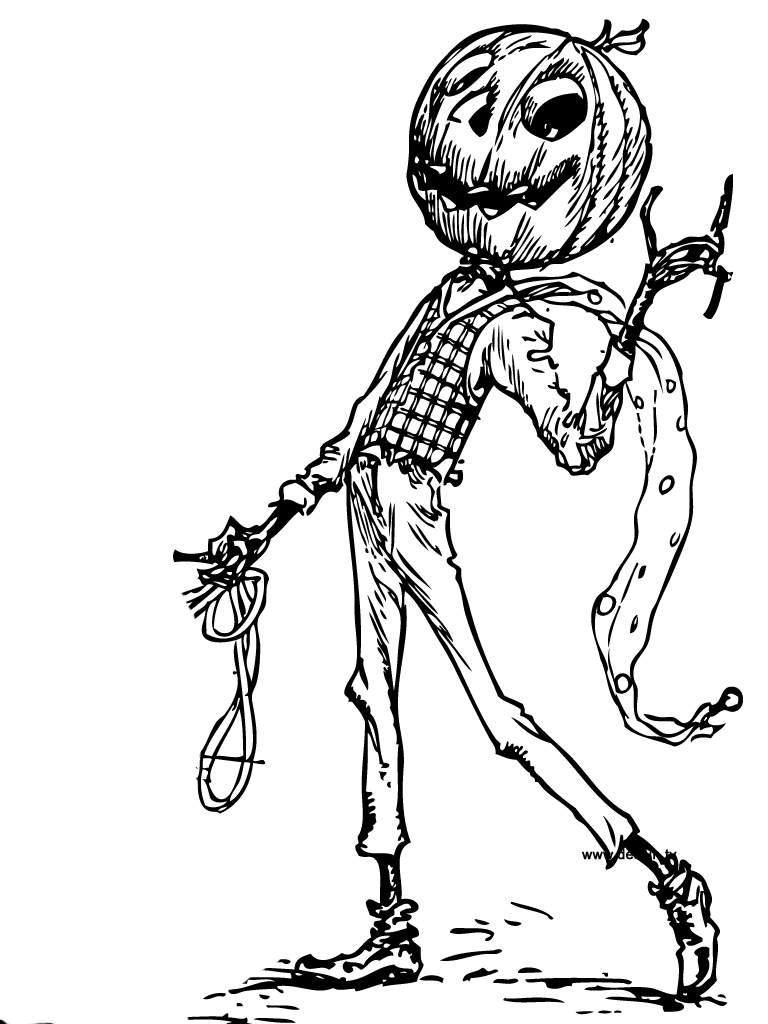 Coloriage monsieur citrouille d halloween - Coloriages d halloween ...