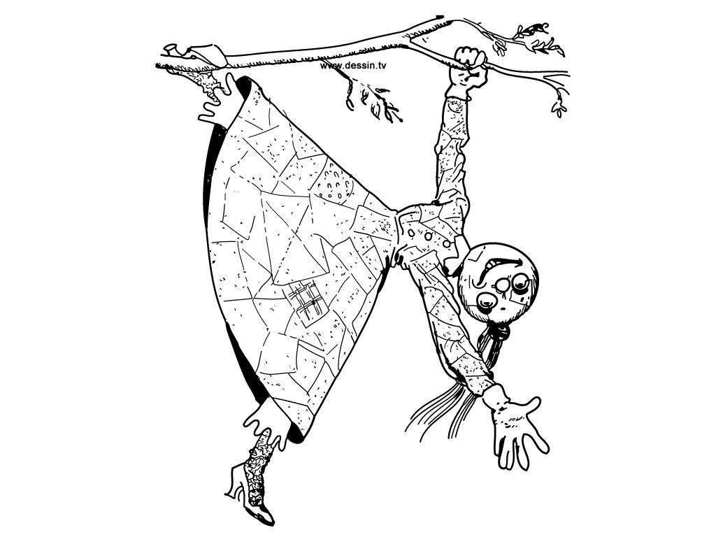 coloriage poupée-de-chiffon-qui-grimpe-aux-arbres