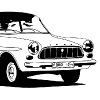 Coloriage voiture de collection Ford