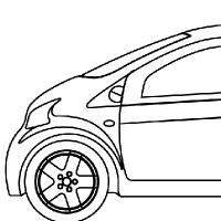 Coloriage petite voiture