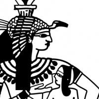 Coloriage déesse égyptienne