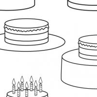 Dessin gateau d'anniversaire