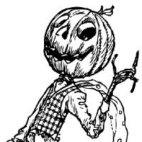 Coloriage monsieur citrouille d'halloween