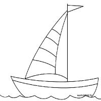Coloriage bateau